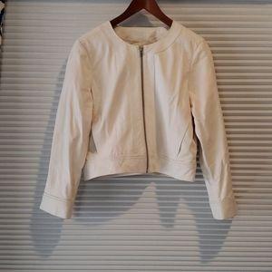 Derek lam for Athleta size Large Leather jacket